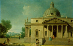 Capriccio with a View of Mereworth Castle, Kent