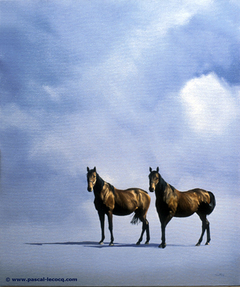 CHEVAUX DE BIGE - Horses of biga - by Pascal