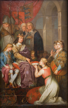 Christian I Proclaiming Holstein a Duchy. Painted for Christiansborg Castle