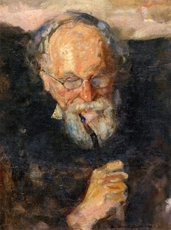 Christian Munch with Pipe