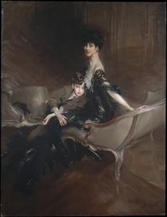 Consuelo Vanderbilt (1876–1964), Duchess of Marlborough, and Her Son, Lord Ivor Spencer-Churchill (1898–1956)