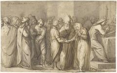 De huwelijksinzegening van de Maagd Maria