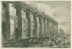 De tempel van Ceres (Athena-tempel), te Paestum