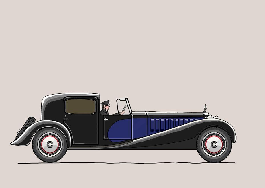 Design For A Toy Car Bugatti Royale 1926 Drawn In Photoshop