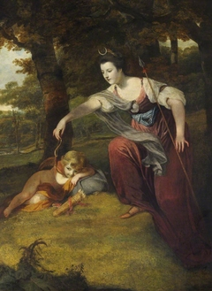 Diana disarming Cupid: Elizabeth Dashwood, Duchess of Manchester (1741-1832) and her Son George Montagu, Viscount Manderville (1763 – 1772)