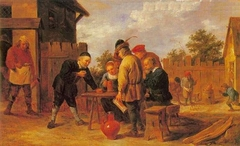 Dice and Skittles Players at an Inn