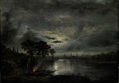 Dresden in the Moonlight