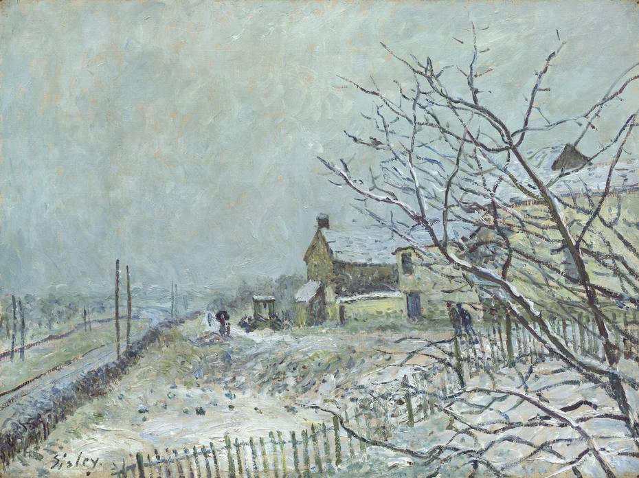 First Snow at Veneux-Nadon