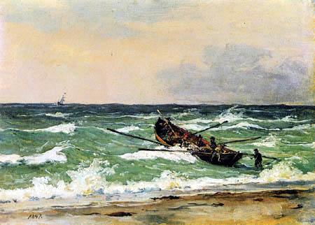 Fishermen from Skagen in the life boat