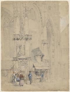 Fontaine S. Maclou, tegen de S. Maclou te Rouaan