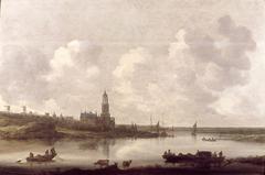 Gezicht op de Rijn bij Rhenen