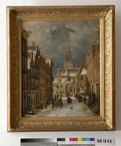 Gezicht op de Zuiderkerk te Amsterdam