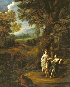 Hagar, Ismael und der Engel in der Wüste