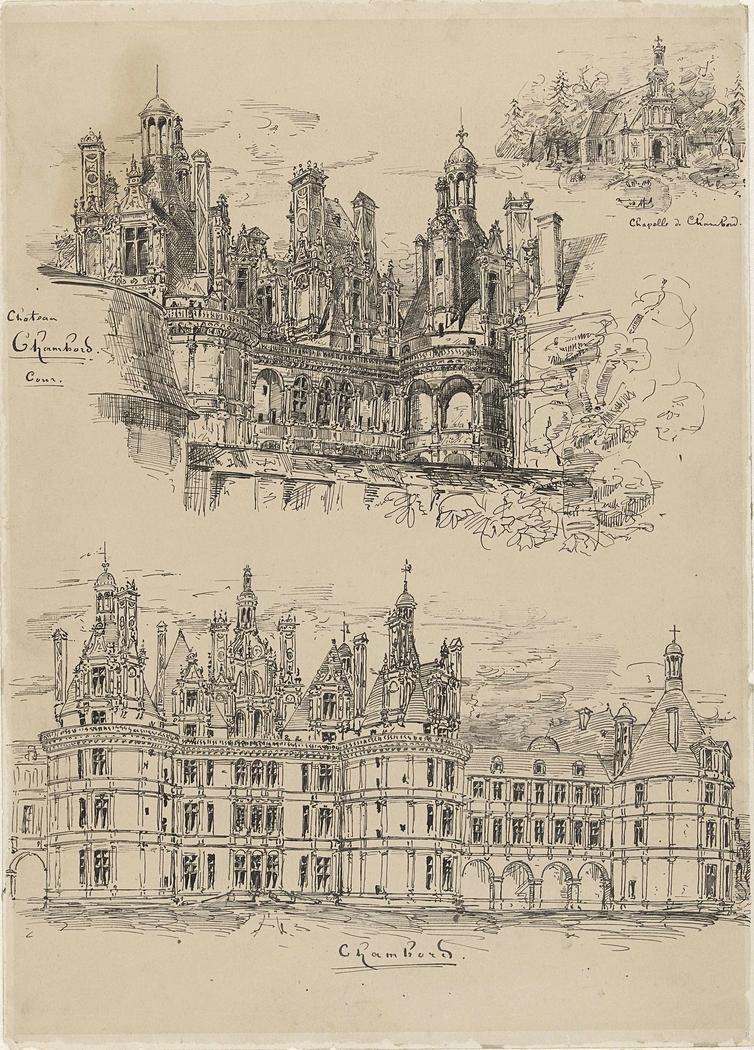 Het Château Chambord en de Chapelle de Chambord