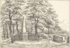 Het gedenkteken voor Witte van Haemstede, in 1817 opgericht door David Jacob van Lennep bij het Huis te Manpad in Heemstede