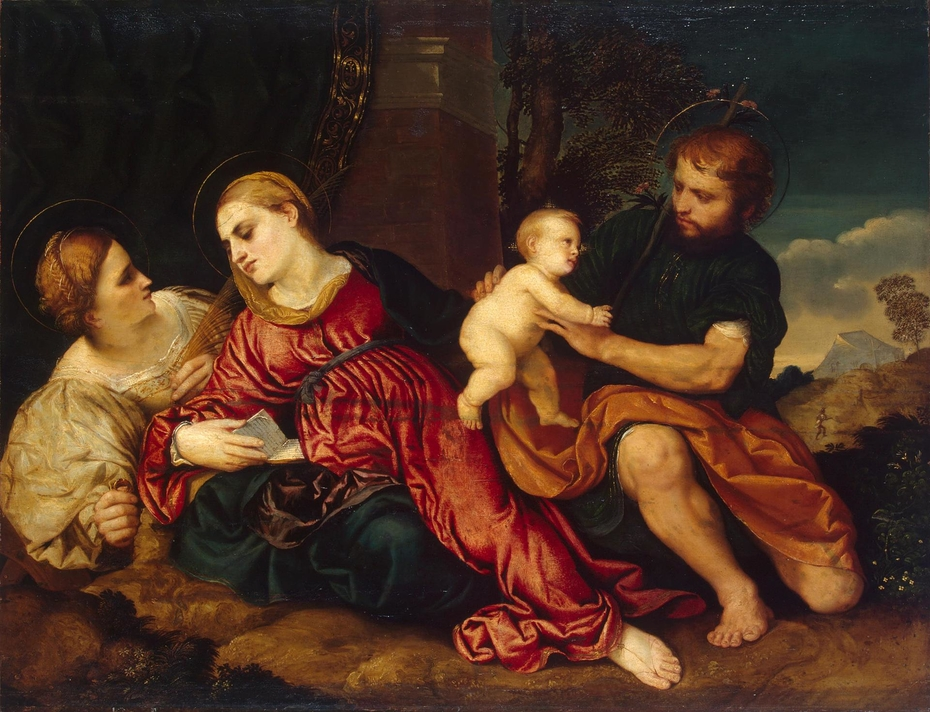 Holy Family with St Catherine
