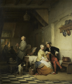 Interior of an Inn, with Figures in Seventeenth-Century Costume