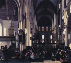 Interior of the Oude Kerk in Amsterrdam