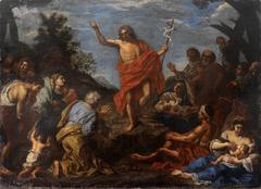 John the Baptist preeching