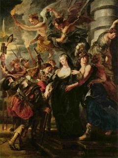 La Reine s'enfuit du château de Blois dans la nuit du 21 au 22 février 1619