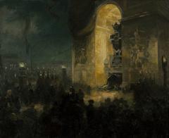 La veillée sous l'Arc de triomphe