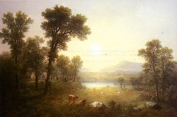 Lake Scene in the Mountains