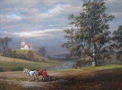 Landscape from Pedersborg near Sorø. Pedersborg Church