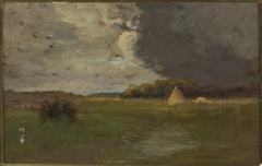 Landscape with a haystack