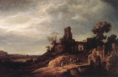 Landscape with Bridge and Ruins
