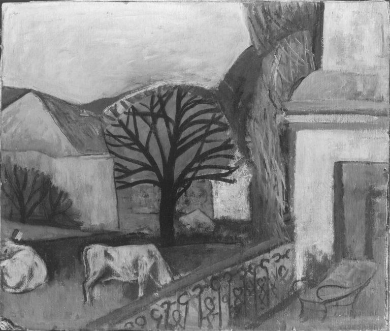 Landschaft mit Kühen
