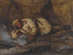 Laplander Asleep by a Fire
