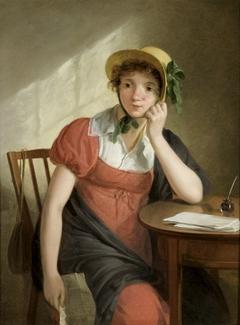 Meisje met brief