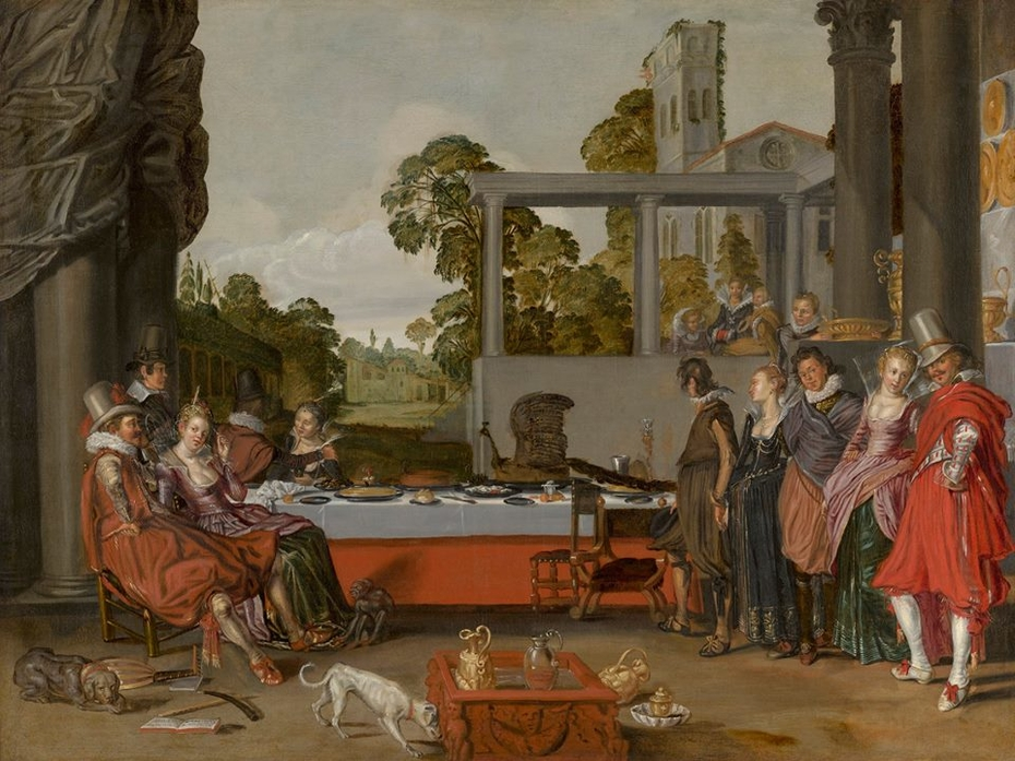 Merry Company on a Terrace