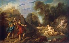 Messengers of Godfrey of Bouillon in Gardens of Armida