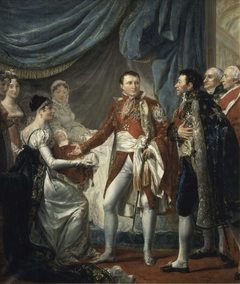 Napoleon I presents the King of Rome to the dignitaries of the Empire, March 20, 1811