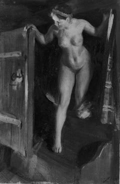 Nude Girl in Doorway