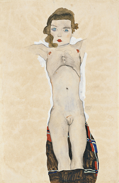 Nude Girl with Arms Outstretched