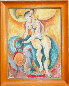 'Nude with apocalyptic curves', 1957. Oil on canvas, 81 x 61 cm.