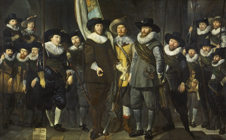 Officers and other civic guardsmen of the IIIrd District of Amsterdam, under the command of Captain Allaert Cloeck and Lieutenant Lucas Jacobsz Rotgans