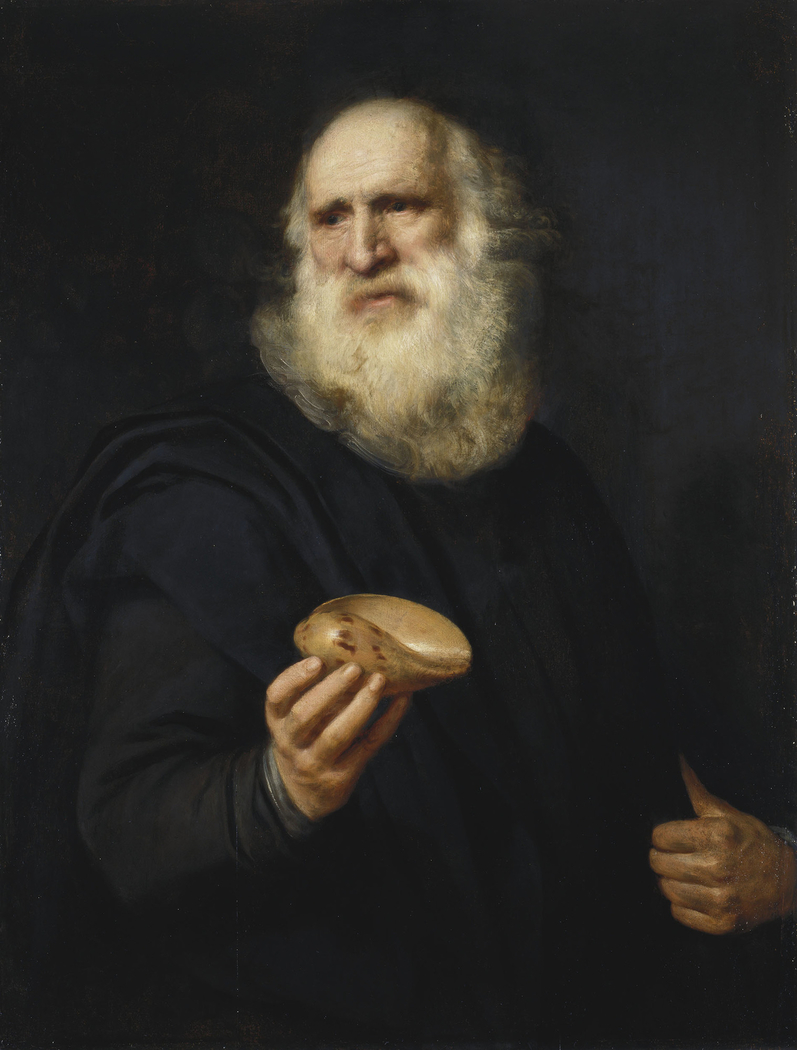 Old Man with a Shell