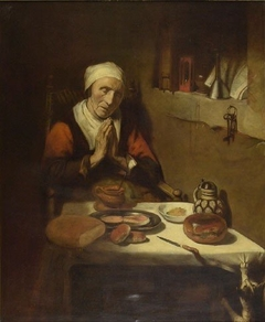 Old woman in prayer