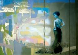ON HER WAY, 2012, oil canvas by ANNA ZYGMUNT