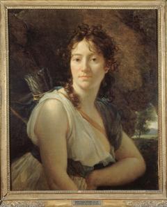 Portrait de Mademoiselle Duchesnois (1777-1835), sociétaire de la Comédie-Française, dans le rôle de Didon