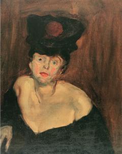 Portrait einer Dame mit Hut (2)
