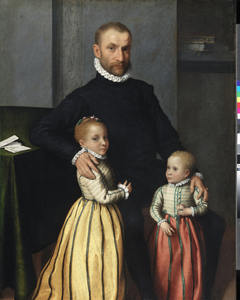 Portrait of a Gentleman and his two Children