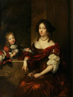 Portrait of a Lady Seated before a Window, with a Young Boy