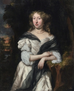Portrait of a Lady Standing in a Landscape