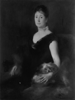 Portrait of a Lady with a Dog