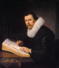 Portrait of a Man at a Writing Desk, possibly Jacob Bruyningh