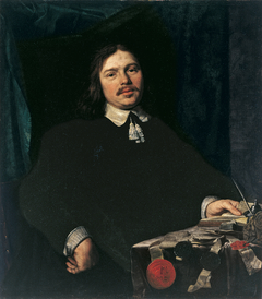 Portrait of a Man with Documents